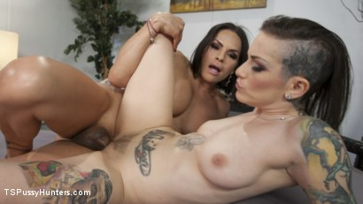 Photo number 2 from Hair Dresser gets a new kind of conditioner from a hot TS client shot for TS Pussy Hunters on Kink.com. Featuring TS Foxxy and Rizzo Ford in hardcore BDSM & Fetish porn.