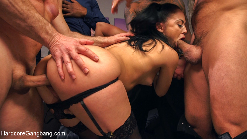 HardcoreGangbang.com - Cheating Wife Caught & Punished by 5 Cocks