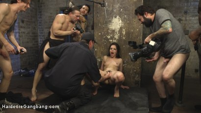 Photo number 25 from Fucking The Film Crew shot for Hardcore Gangbang on Kink.com. Featuring Juliette March, Small Hands, Tommy Pistol, Jon Jon, Tarzan and Owen Gray in hardcore BDSM & Fetish porn.