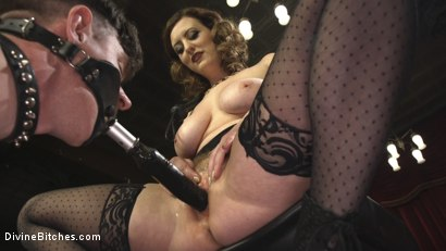 Photo number 18 from Cherry Torn's Tea Service and Slave Punishment  shot for Divine Bitches on Kink.com. Featuring Cherry Torn and Artemis Faux in hardcore BDSM & Fetish porn.