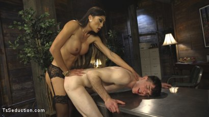 Photo number 14 from Slutty TA gets T&A from DTF Ts School Administrator VENUS LUX! NSFW!!! shot for TS Seduction on Kink.com. Featuring Venus Lux and Artemis Faux in hardcore BDSM & Fetish porn.