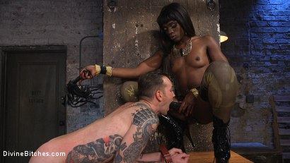 Photo number 18 from Fashion Model Ana Foxxx Turns Will Havoc Into Her Plaything shot for Divine Bitches on Kink.com. Featuring Ana Foxxx and Will Havoc in hardcore BDSM & Fetish porn.