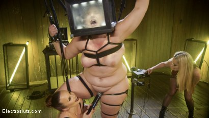 Photo number 5 from Insatiable Electroslut Mimosa Returns!  shot for Electro Sluts on Kink.com. Featuring Aiden Starr, Mimosa and Bella Rossi in hardcore BDSM & Fetish porn.