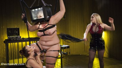 Photo number 10 from Insatiable Electroslut Mimosa Returns!  shot for Electro Sluts on Kink.com. Featuring Aiden Starr, Mimosa and Bella Rossi in hardcore BDSM & Fetish porn.