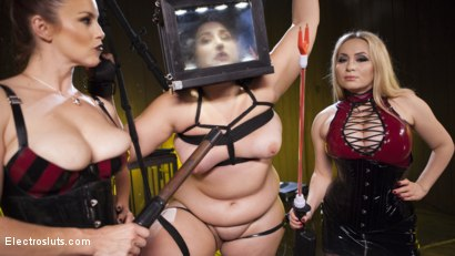 Photo number 7 from Insatiable Electroslut Mimosa Returns!  shot for Electro Sluts on Kink.com. Featuring Aiden Starr, Mimosa and Bella Rossi in hardcore BDSM & Fetish porn.