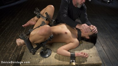 Photo number 3 from 19 Year Old Brazilian in Devastating Bondage shot for Device Bondage on Kink.com. Featuring Gina Valentina and The Pope in hardcore BDSM & Fetish porn.