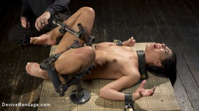 Photo number 7 from 19 Year Old Brazilian in Devastating Bondage shot for Device Bondage on Kink.com. Featuring Gina Valentina and The Pope in hardcore BDSM & Fetish porn.