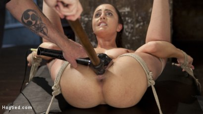 Photo number 2 from College Brat Gets Devastating Torment in Grueling Bondage  shot for Hogtied on Kink.com. Featuring Roxanne Rae and The Pope in hardcore BDSM & Fetish porn.