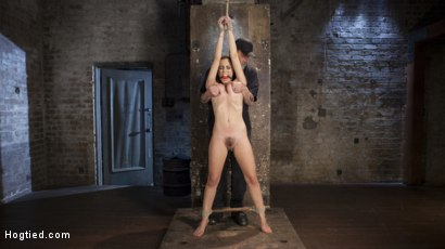 Photo number 11 from College Brat Gets Devastating Torment in Grueling Bondage  shot for Hogtied on Kink.com. Featuring Roxanne Rae and The Pope in hardcore BDSM & Fetish porn.