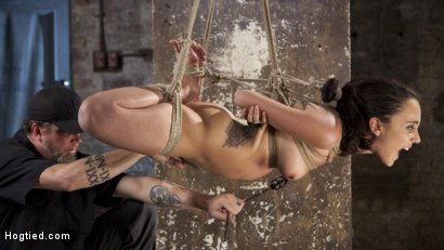 Photo number 15 from College Brat Gets Devastating Torment in Grueling Bondage  shot for Hogtied on Kink.com. Featuring Roxanne Rae and The Pope in hardcore BDSM & Fetish porn.