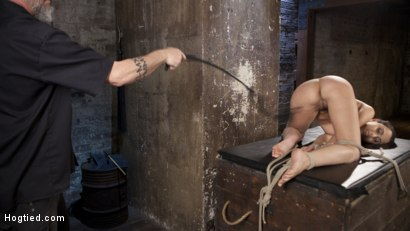 Photo number 9 from College Brat Gets Devastating Torment in Grueling Bondage  shot for Hogtied on Kink.com. Featuring Roxanne Rae and The Pope in hardcore BDSM & Fetish porn.