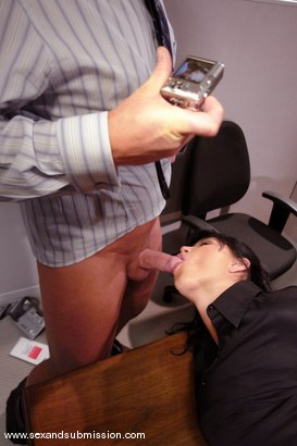 Photo number 6 from Dirty Little Secretary shot for Sex And Submission on Kink.com. Featuring Mark Davis and Eva Angelina in hardcore BDSM & Fetish porn.
