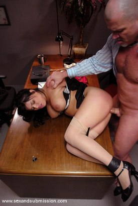 Photo number 7 from Dirty Little Secretary shot for Sex And Submission on Kink.com. Featuring Mark Davis and Eva Angelina in hardcore BDSM & Fetish porn.
