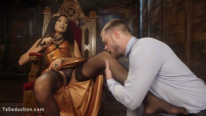 Photo number 12 from Her Willing Slave shot for TS Seduction on Kink.com. Featuring Mike Panic and Venus Lux in hardcore BDSM & Fetish porn.