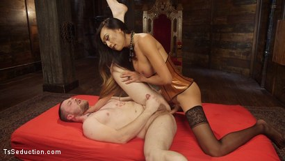 Photo number 18 from Her Willing Slave shot for TS Seduction on Kink.com. Featuring Mike Panic and Venus Lux in hardcore BDSM & Fetish porn.