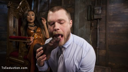 Photo number 1 from Her Willing Slave shot for TS Seduction on Kink.com. Featuring Mike Panic and Venus Lux in hardcore BDSM & Fetish porn.