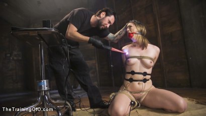 Photo number 4 from Speech Training an Anal Slut: Ella Nova shot for The Training Of O on Kink.com. Featuring Ella Nova  and Tommy Pistol in hardcore BDSM & Fetish porn.