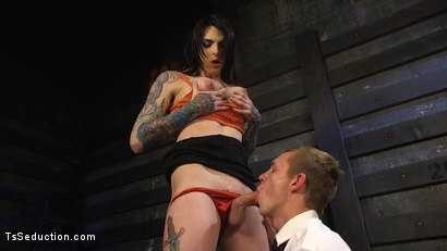 Photo number 4 from Hot Tattooed Bartender Ts Chelsea Marie Serves It Hard To Horny Patron shot for TS Seduction on Kink.com. Featuring Chelsea Marie and Zane Anders in hardcore BDSM & Fetish porn.