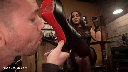 Photo number 9 from Are You Ready To Please Your Mistress shot for TS Seduction on Kink.com. Featuring Tori Mayes and Will Havoc in hardcore BDSM & Fetish porn.