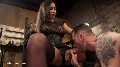 Photo number 10 from Are You Ready To Please Your Mistress shot for TS Seduction on Kink.com. Featuring Tori Mayes and Will Havoc in hardcore BDSM & Fetish porn.