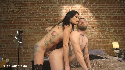 Photo number 12 from EMT Takes Morgan Bailey's BFD shot for TS Seduction on Kink.com. Featuring Mike Panic and Morgan Bailey in hardcore BDSM & Fetish porn.