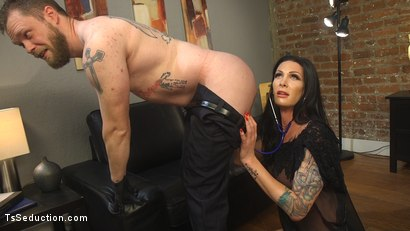 Photo number 2 from EMT Takes Morgan Bailey's BFD shot for TS Seduction on Kink.com. Featuring Mike Panic and Morgan Bailey in hardcore BDSM & Fetish porn.