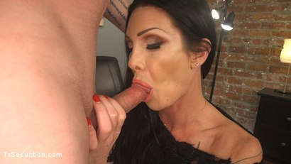 Photo number 6 from EMT Takes Morgan Bailey's BFD shot for TS Seduction on Kink.com. Featuring Mike Panic and Morgan Bailey in hardcore BDSM & Fetish porn.