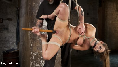Photo number 6 from Charlotte's Caught in a Web of Bondage and Tormented shot for Hogtied on Kink.com. Featuring Charlotte Cross and The Pope in hardcore BDSM & Fetish porn.