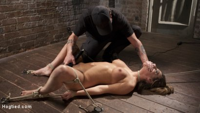 Photo number 9 from Charlotte's Caught in a Web of Bondage and Tormented shot for Hogtied on Kink.com. Featuring Charlotte Cross and The Pope in hardcore BDSM & Fetish porn.