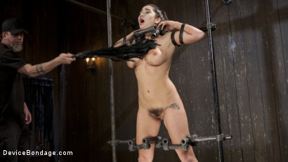Photo number 2 from Big Tit Squirter Screams in Metal Bondage shot for Device Bondage on Kink.com. Featuring Karlee Grey and The Pope in hardcore BDSM & Fetish porn.