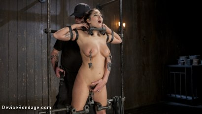 Photo number 13 from Big Tit Squirter Screams in Metal Bondage shot for Device Bondage on Kink.com. Featuring Karlee Grey and The Pope in hardcore BDSM & Fetish porn.