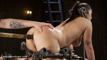Photo number 14 from Big Tit Squirter Screams in Metal Bondage shot for Device Bondage on Kink.com. Featuring Karlee Grey and The Pope in hardcore BDSM & Fetish porn.