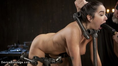 Photo number 4 from Big Tit Squirter Screams in Metal Bondage shot for Device Bondage on Kink.com. Featuring Karlee Grey and The Pope in hardcore BDSM & Fetish porn.