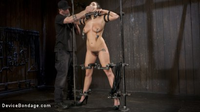 Photo number 5 from Big Tit Squirter Screams in Metal Bondage shot for Device Bondage on Kink.com. Featuring Karlee Grey and The Pope in hardcore BDSM & Fetish porn.