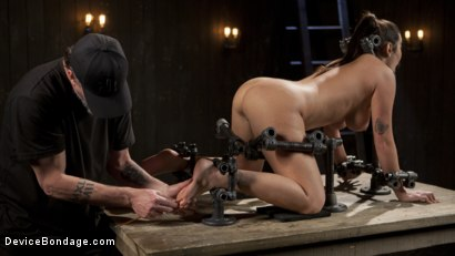 Photo number 8 from Big Tit Squirter Screams in Metal Bondage shot for Device Bondage on Kink.com. Featuring Karlee Grey and The Pope in hardcore BDSM & Fetish porn.