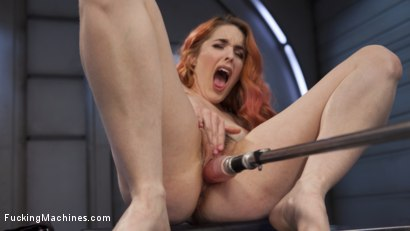 Photo number 4 from Spanish Red Head Machined Fucked Into Uncontrollable Orgasms!!  shot for Fucking Machines on Kink.com. Featuring Amarna Miller in hardcore BDSM & Fetish porn.