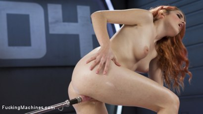 Photo number 12 from Spanish Red Head Machined Fucked Into Uncontrollable Orgasms!!  shot for Fucking Machines on Kink.com. Featuring Amarna Miller in hardcore BDSM & Fetish porn.