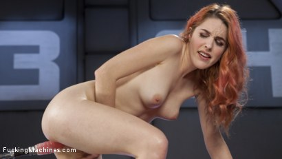 Photo number 14 from Spanish Red Head Machined Fucked Into Uncontrollable Orgasms!!  shot for Fucking Machines on Kink.com. Featuring Amarna Miller in hardcore BDSM & Fetish porn.