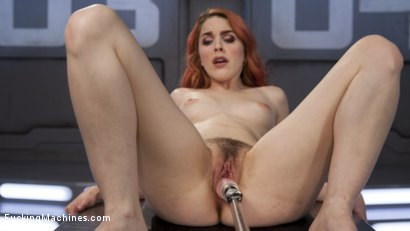 Photo number 6 from Spanish Red Head Machined Fucked Into Uncontrollable Orgasms!!  shot for Fucking Machines on Kink.com. Featuring Amarna Miller in hardcore BDSM & Fetish porn.