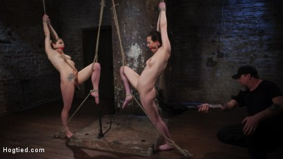 Photo number 11 from Casey and Dahlia Suffer Together in Brutal Bondage shot for Hogtied on Kink.com. Featuring Casey Calvert , Dahlia Sky and The Pope in hardcore BDSM & Fetish porn.