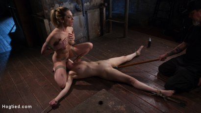 Photo number 15 from Casey and Dahlia Suffer Together in Brutal Bondage shot for Hogtied on Kink.com. Featuring Casey Calvert , Dahlia Sky and The Pope in hardcore BDSM & Fetish porn.