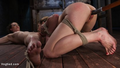Photo number 5 from Casey and Dahlia Suffer Together in Brutal Bondage shot for Hogtied on Kink.com. Featuring Casey Calvert , Dahlia Sky and The Pope in hardcore BDSM & Fetish porn.