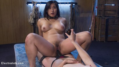 Photo number 7 from Mona Wales Breaks in Electro-Pet Mia Li shot for Electro Sluts on Kink.com. Featuring Mona Wales and Mia Li in hardcore BDSM & Fetish porn.