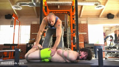 Photo number 1 from Bound gym whore gets the cum fucked right out of his uncut cock shot for Bound Gods on Kink.com. Featuring Jackson Fillmore and Jessie Colter in hardcore BDSM & Fetish porn.