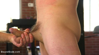 Photo number 9 from Bound gym whore gets the cum fucked right out of his uncut cock shot for Bound Gods on Kink.com. Featuring Jackson Fillmore and Jessie Colter in hardcore BDSM & Fetish porn.