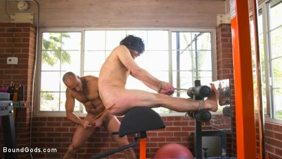 Photo number 11 from Bound gym whore gets the cum fucked right out of his uncut cock shot for Bound Gods on Kink.com. Featuring Jackson Fillmore and Jessie Colter in hardcore BDSM & Fetish porn.