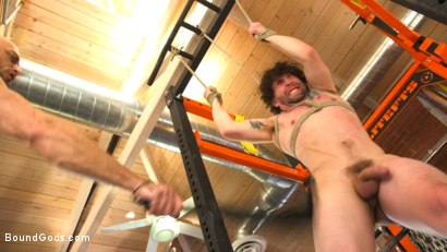 Photo number 7 from Bound gym whore gets the cum fucked right out of his uncut cock shot for Bound Gods on Kink.com. Featuring Jackson Fillmore and Jessie Colter in hardcore BDSM & Fetish porn.
