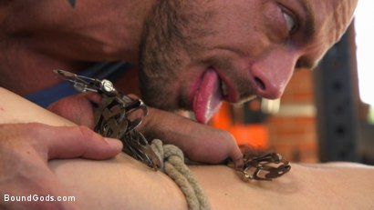 Photo number 4 from Bound gym whore gets the cum fucked right out of his uncut cock shot for Bound Gods on Kink.com. Featuring Jackson Fillmore and Jessie Colter in hardcore BDSM & Fetish porn.