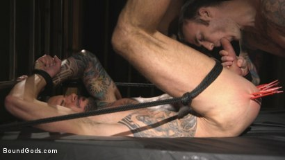 Photo number 11 from Muscled hunk begs for his master's abuse shot for Bound Gods on Kink.com. Featuring Dolf Dietrich and Christian Wilde in hardcore BDSM & Fetish porn.