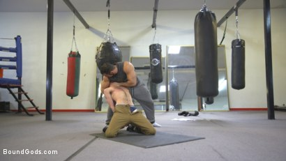 Photo number 2 from Slender stud humiliated and abused at the hands of his muscled tenant shot for Bound Gods on Kink.com. Featuring Jaxton Wheeler and Alex Hawk in hardcore BDSM & Fetish porn.